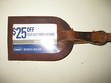 New Lot 2pcs Genuine Leather Luggage Tags