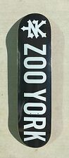 "ZOO YORK skateboard deck 7.625"" inch graphic BLACK PURPLE TOP STAIN D15"