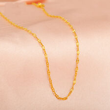 Pure 18K Yellow Gold 1.8 mm Anchor Link Chain Necklace 45cm Length