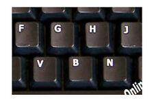GERMAN  KEYBOARD STICKER FOR COMPUTER NON TRANSPARENT BLACK BACKGROUND NEW