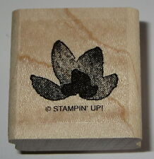 Flower Petals Rubber Stamp Stampin' Up! Wood Mounted Camp Fire New