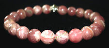 BRACELET - RHODOCHROSITE 8mm Round Crystal Bead w/ Description - Healing Stone