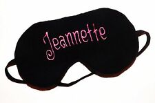 Monogrammed Sleep Mask - Pick Font, Threads and Color for Front of Mask - New