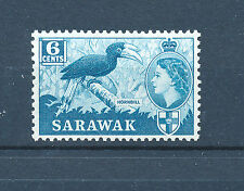 SARAWAK 1955-1957 DEFINITIVES SG191 6c (BIRD)  MNH