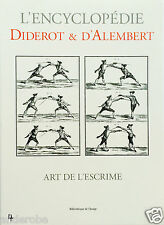 DIDEROT/d'Alembert 1700s FRANCE, FENCING Equipment/Methods RARE VOLUME w/PLATES