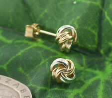Sassi KS342YW Ladies Small 375 9ct Yellow & White Gold Knot Stud Earrings