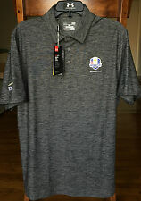 NWT Under Armour Men's Gray 2016 US Ryder Cup Hazeltine Golf Polo Shirt Large LG