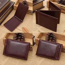 New Chic Leather Magic Money Clip Slim Men's Wallet ID Credit Card Holder Case