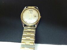 SIGNET GOLD TONE DAY/DATE MENS WATCH