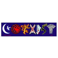 CS260 - Coexist Game of Thrones Sigil Parody Color MAGNETIC bumper sticker
