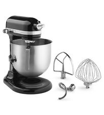 KitchenAid Commercial 8-Qt Bowl Lift NSF Stand Mixer KSM8990OB 1.3HP Motor Black