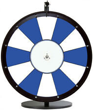 24 Inch Blue and White Portable Dry Erase Spinning Prize Wheel