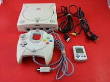 Sega Dreamcast System Console White [w/ Controller & VMU Card] Tested & Working