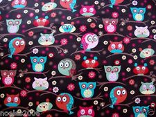 Fabric by the Yard - Owls in Trees