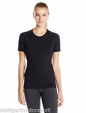 Asics INNER MUSCLE Womens Running Compression Top Short Sleeve Black New!