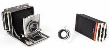 Linhof Technika III 4X5 field camera + 150mm + 210mm lenses +holders NEW BELLOWS