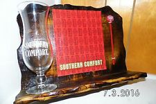 Southern Comfort Handmade Rustic Wooden Liquor Sign/Shelf & Glass 2016 Original