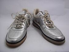 Rare NIKE AIR FORCE 1 LOW AF1 DOWNTOWN Metallic Silver/Liquid 579962-002 Sz 12 !