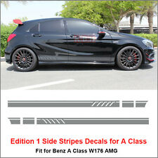 Edition 1 Style Side Stripes Decals Vinyl Sticker for Benz W176 A Class AMG Gray