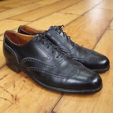 PEAL & CO BROOKS BROS Mens Black Dress Shoes Wingtip Benchmade England 8.5 C