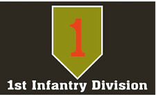 """1ST INFANTRY DIVISION """"THE BIG RED ONE"""" 3' X 5' POLYESTER FLAG"""