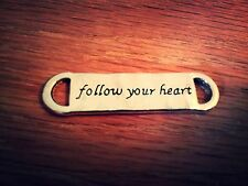 Quote Pendants Connectors Antiqued Silver Word Charms Follow Your Heart 10pc