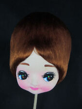 1960s big bubble hair doll head NIP on pick anime redhead blonde big eyes