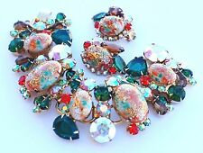 Juliana D&E Easter Egg Rhinestone Bracelet Earring Set Pristine & Gorgeous