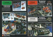 X1605 Lego Technic - Costruttori - Pubblicità del 1994 - Vintage advertising
