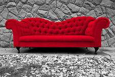 Chesterfield sofa Verona Italia Velvet - Red, Mink, Grey Blue color and more