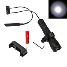 Tactical 5000Lm XM-L T6 LED Flashlight Torch Light Lamp Rifle Rail Gun Battery