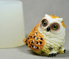 OWL 3D - silicone mould food use resin fimo soap polymer clay plaster wax mold