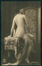 French nude Screen original 1910-1920s Photo postcard lot set of 5 Mandel AN 256