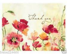 20 pc Boxed Thank You Note Cards Poppies CR Gibson 4x5 Design by Susan Winget