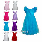 Girls Party Dress Flower Christening Communion Formal Party Wedding Bridesmaid