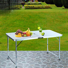 Aluminum Folding Table 4'Portable Outdoor Picnic Camping Table Party Useful USA
