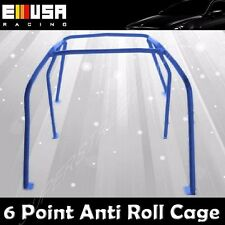 6 Point Anti Roll Cage for 1992-1995 Honda Civic Hatchback 3D/Coupe 2D BLUE