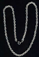 "Western Jewelry 4MM 20"" Silver French Rope Chain"