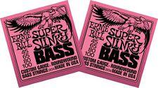 2 x Packs - ERNIE BALL SLINKY ELECTRIC BASS GUITAR STRINGS - SUPER (45 - 100)