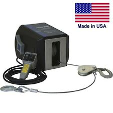 Electric AC Winch & Remote Control - 4000 Lbs - 120 Volts - 570:1 - Freespoiling