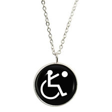 Paralympic Olympic Symbol Pendant & Necklace Gift Boxed physical disabled sports