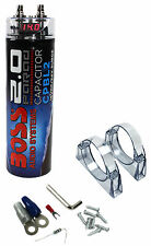 New Boss CPBL2 2 Farad Car Digital Voltage Capacitor Power Audio Cap LED Blue