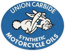"""#602(1) 3.75"""" Vintage Motorcycle Racing Oil Union Carbide Oil Decal Sticker Repr"""
