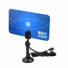 Digital Indoor TV Antenna HD VHF UHF Flat Design High Gain HDTV DTV Box Ready WP