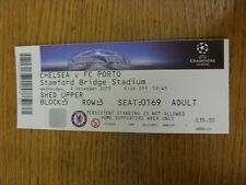 09/12/2015 Ticket: Chelsea v Porto [Champions League] . Thanks for viewing this