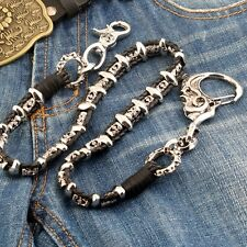 Big Skull Hook Leather Heavy Biker Trucker Keychain Key Jean Wallet Chain NCS50