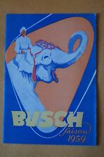 Programm / Prospekt Busch Saison 1959, Zirkus