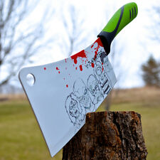 "12"" ZOMBIE HUNTER Chopping Kitchen MEAT CLEAVER Walking Dead Kitchen CHEF KNIFE"