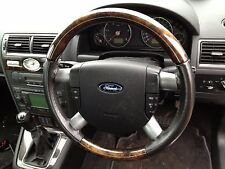 FORD MONDEO MK3 2001-2007 MULTI-FUNCTION LEATHER STEERING WHEEL WITH AIRBAG