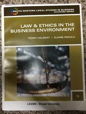Law And Ethics In The Business Environment In The Business  Environment Leg 500